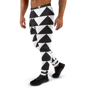 Black and White Triangles | Men's Joggers