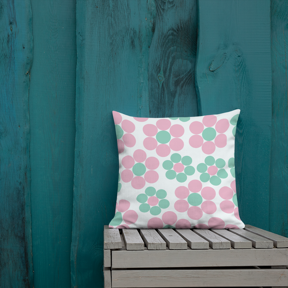Happy Pastel Flowers | Pillow