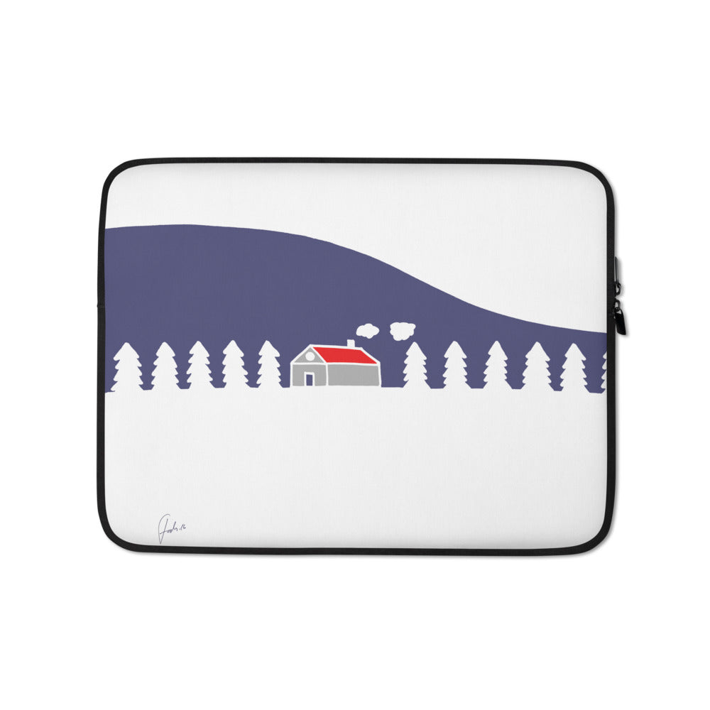 Home In White Forest | Laptop Sleeve