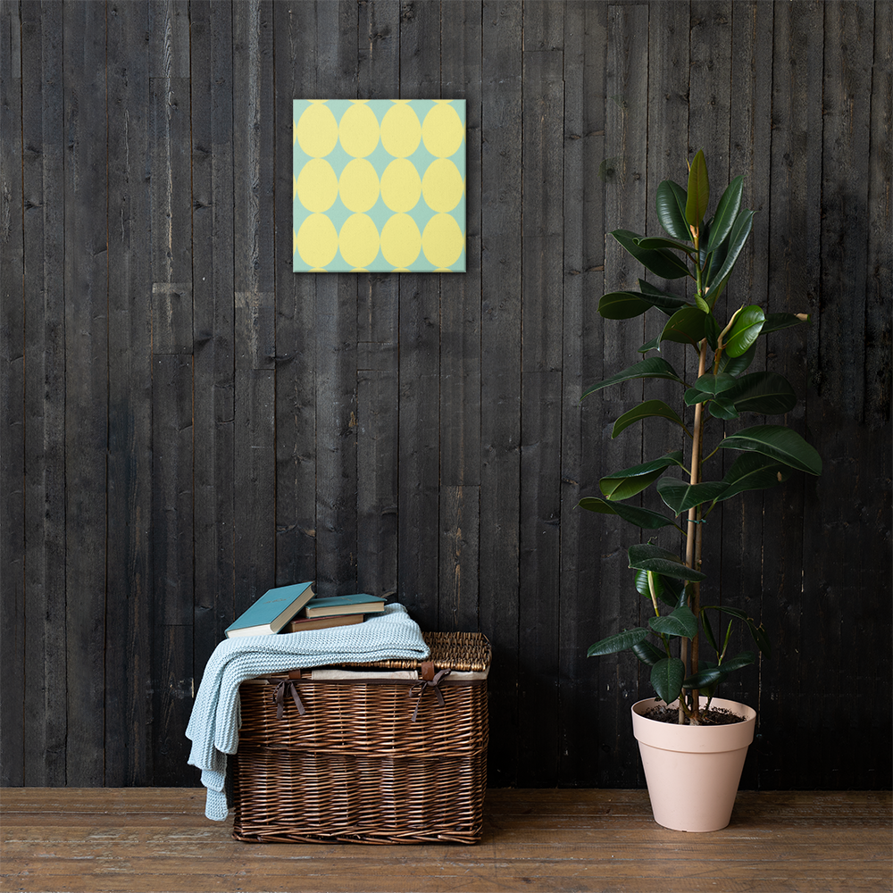 Easter Pattern Yellow | Canvas