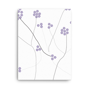 Purple Small Flowers | Canvas