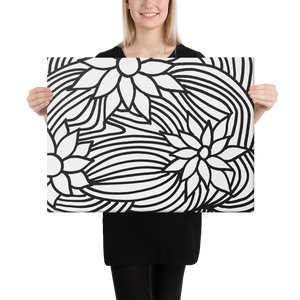 Black And White Flower Ornament | Canvas