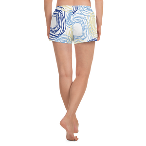 Cheery Flowers | Women's Athletic Short Shorts