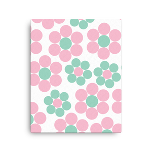Happy Pastel Flowers | Canvas