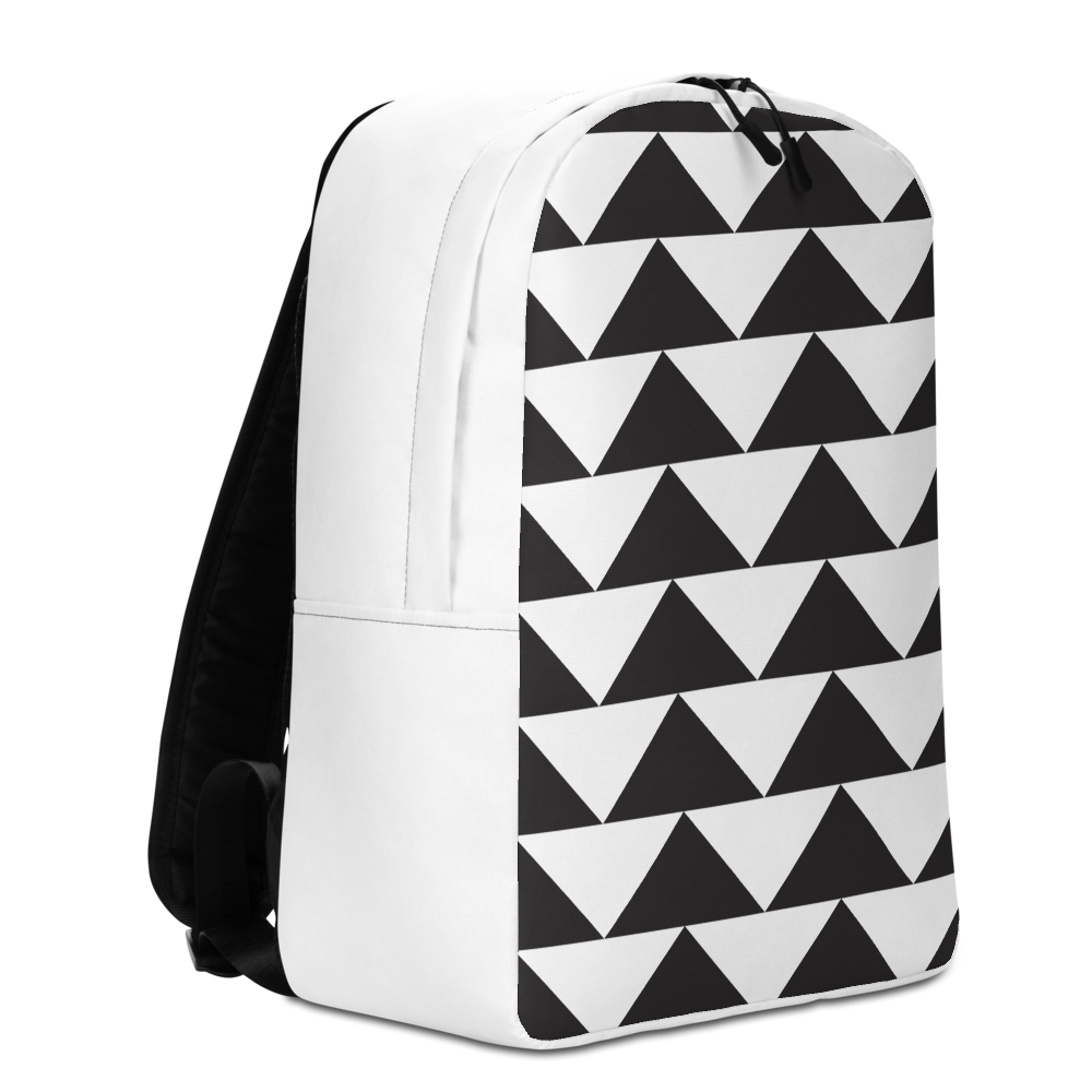 Black and White Triangles | Minimalist Backpack