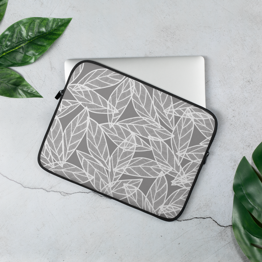 Messy White Leaves | Laptop Sleeve