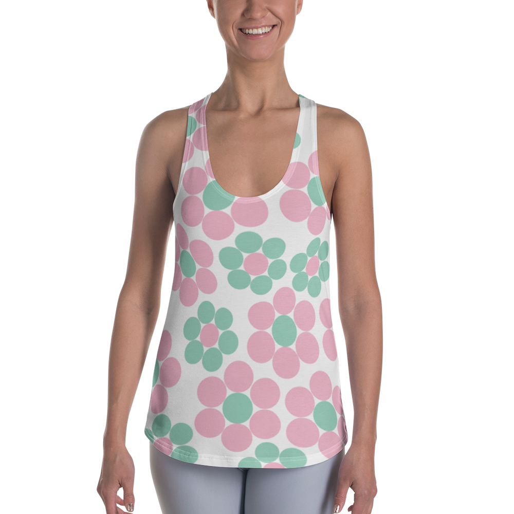 Happy Pastel Flowers | Women's Racerback Tank