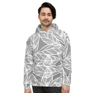 Messy White Leaves | Unisex Hoodie