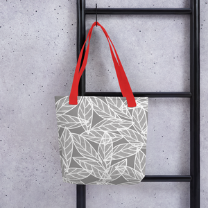 Messy White Leaves | Tote Bag