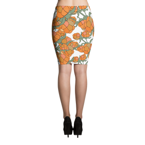 Lakka Ornament Black | Pencil Skirt
