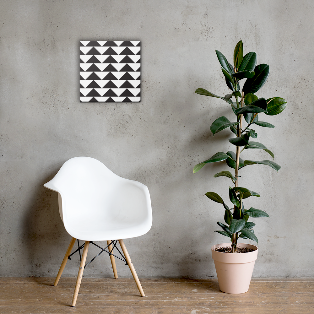 Black and White Triangles | Canvas
