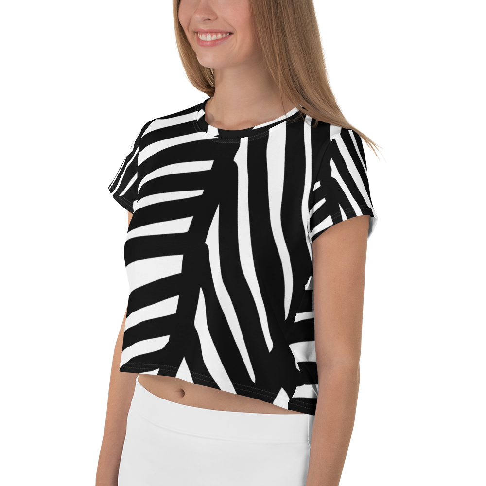 Black and White Ornament | Crop Tee