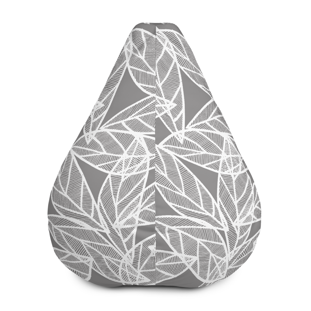 Messy White Leaves | Bean Bag Chair