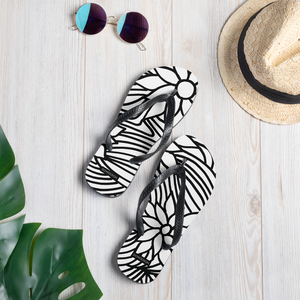 Black And White Flower Ornament | Flip-Flops