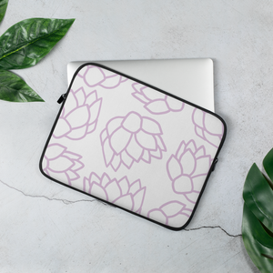 Pink Pastel Flowers | Laptop Sleeve