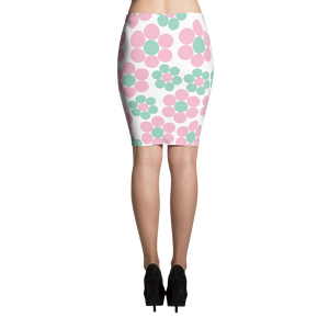 Happy Pastel Flowers | Pencil Skirt