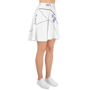 Purple Small Flowers | Skater Skirt