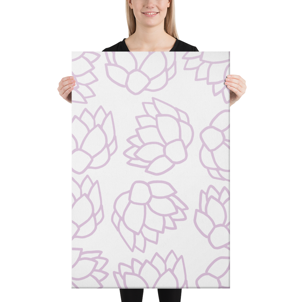 Pink Pastel Flowers | Canvas
