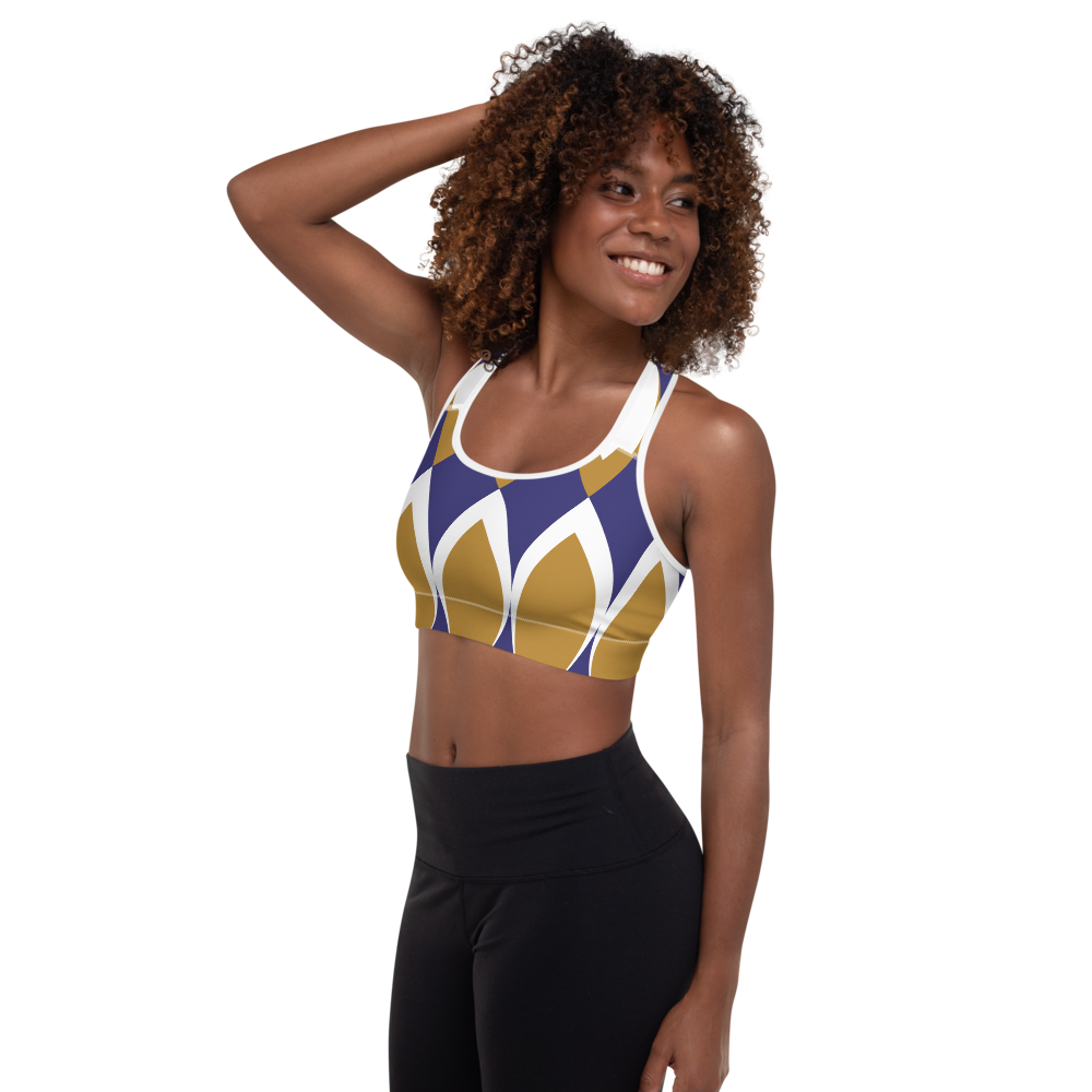 Golden Eye Ornament | Padded Sports Bra