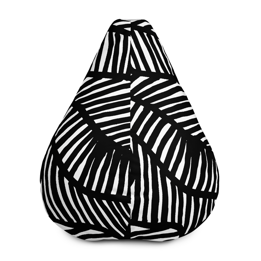 Black and White Ornament | Bean Bag Chair
