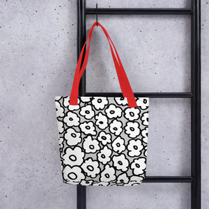 Happy White Flowers | Tote Bag
