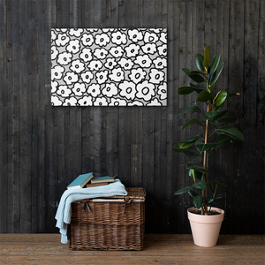 Happy White Flowers | Canvas