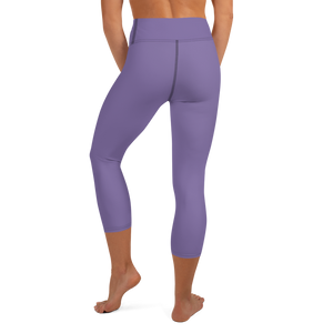 Purple Small Flowers | Yoga Capri Leggings