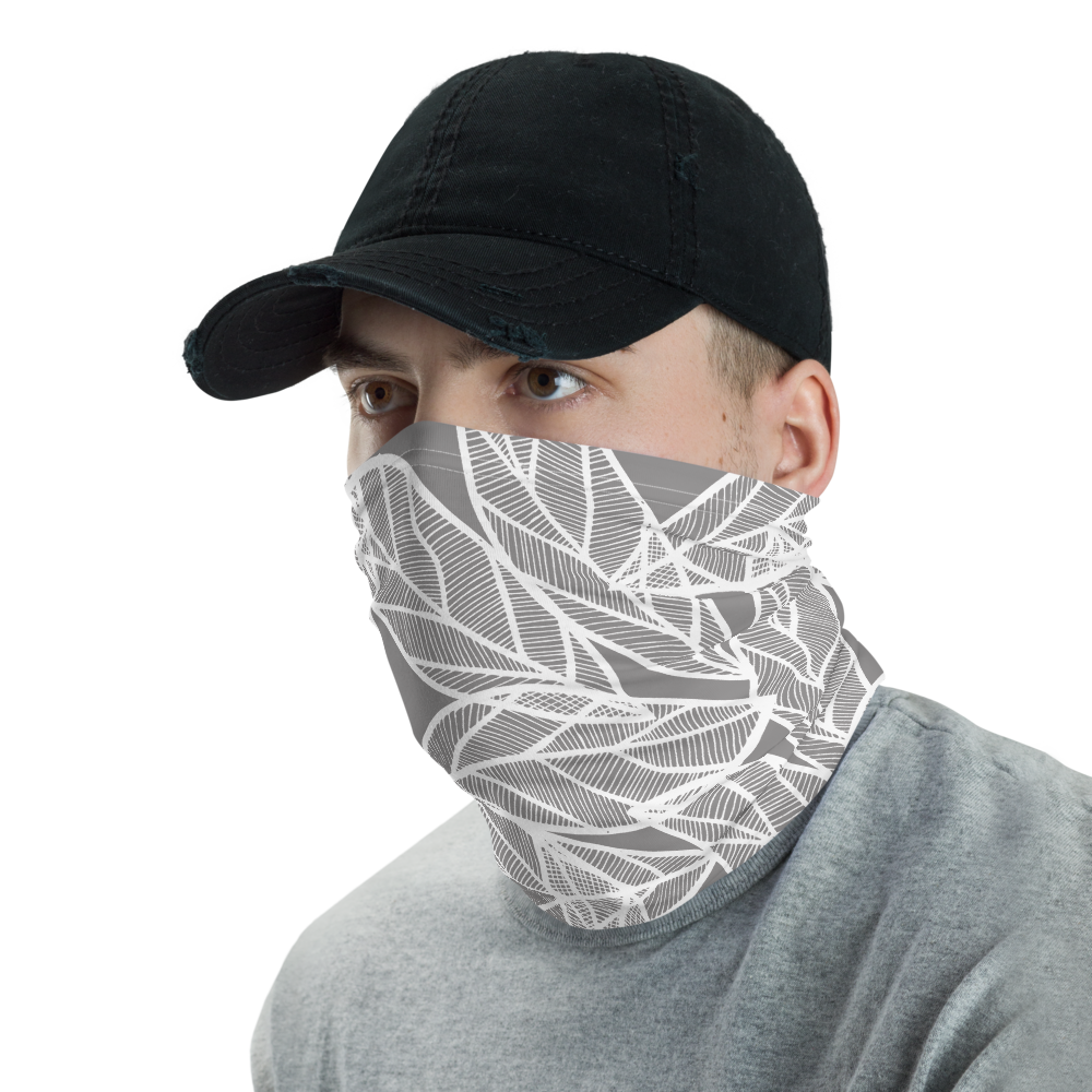 Messy White Leaves | Neck Gaiter