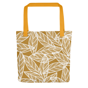 White Leaves on Gold | Tote Bag
