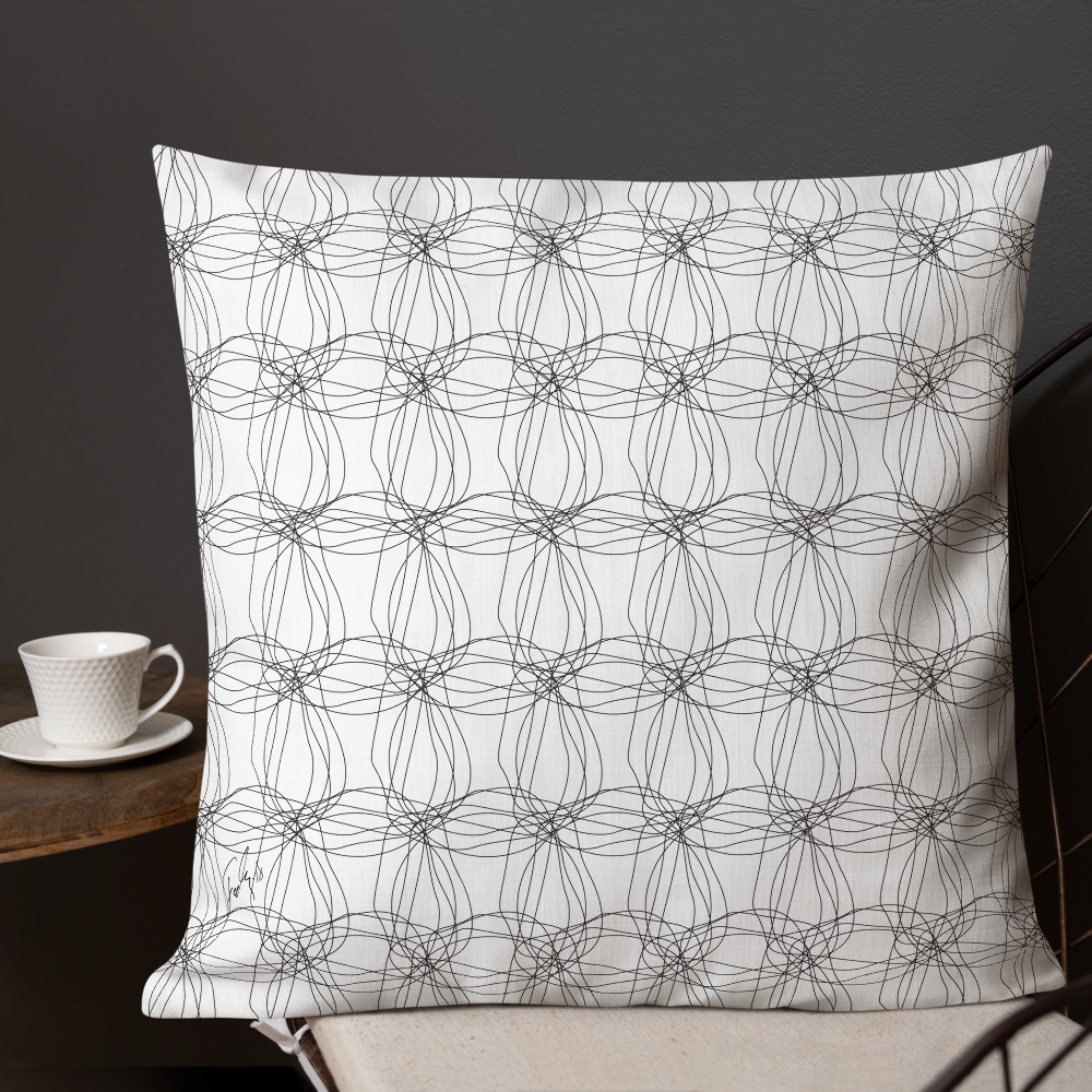 Ornament Graphic Flowers | Pillow