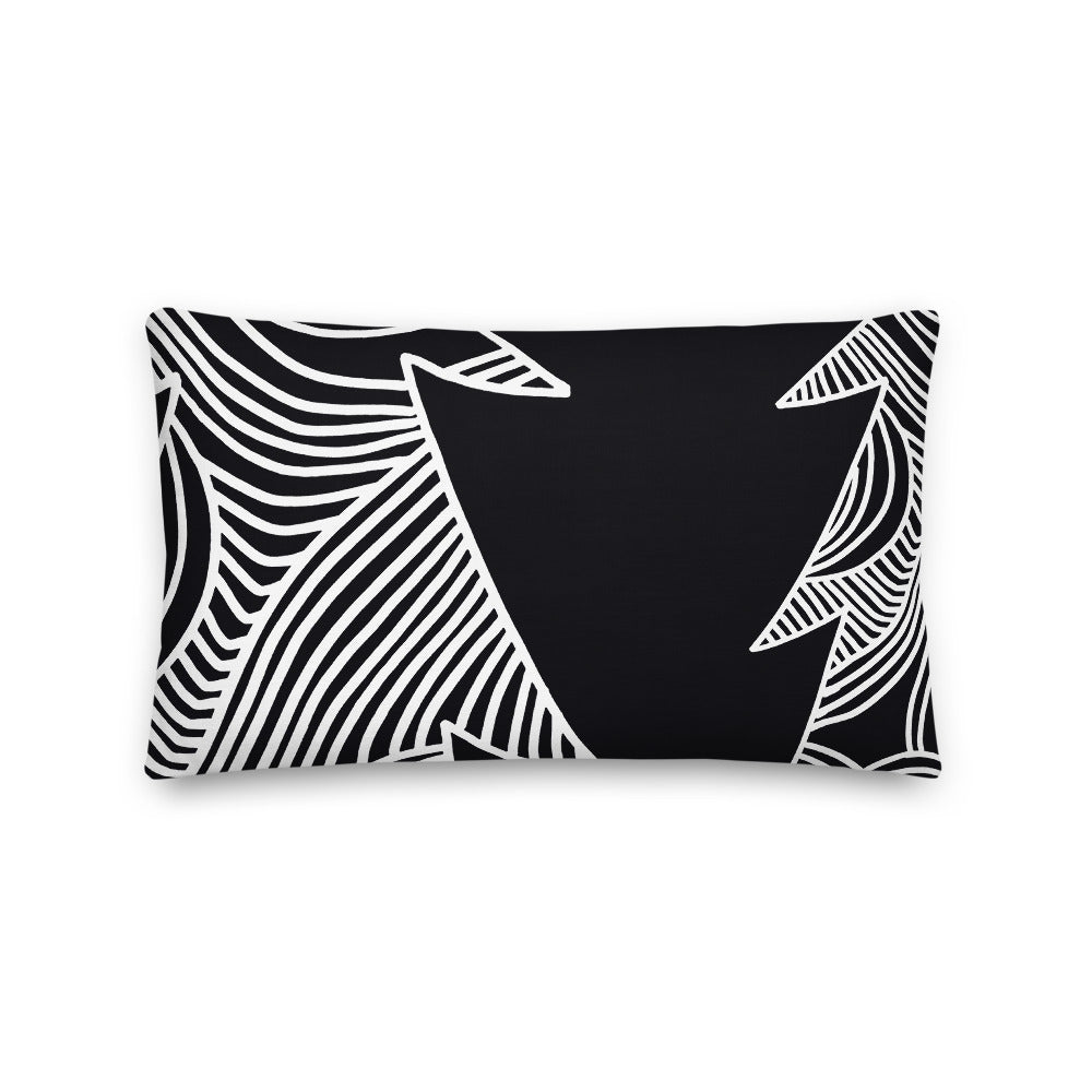 Stars and Trees Black | Pillow
