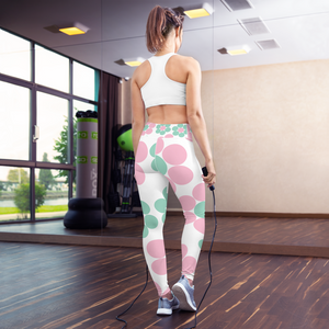 Happy Pastel Flowers | Yoga Leggings
