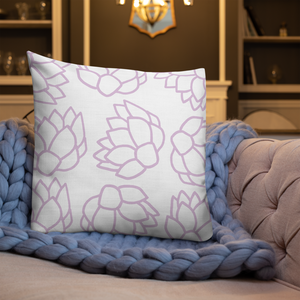Pink Pastel Flowers | Pillow