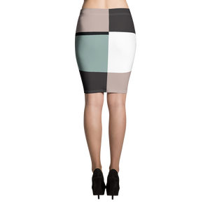 Pastel Square | Pencil Skirt