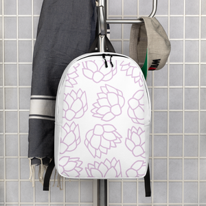 Pink Pastel Flowers | Minimalist Backpack