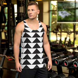 Black and White Triangles | Men's Tank Top
