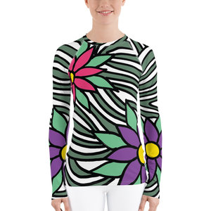 Flower Ornament | Women's Rash Guard