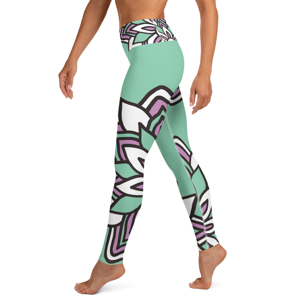 Smiling Flowers | Yoga Leggings