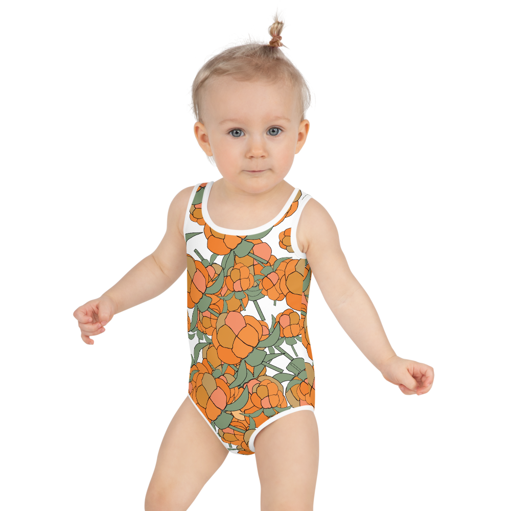 Lakka Ornament Black | Kids Swimsuit