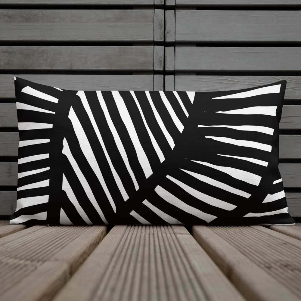 Black and White Ornament | Pillow