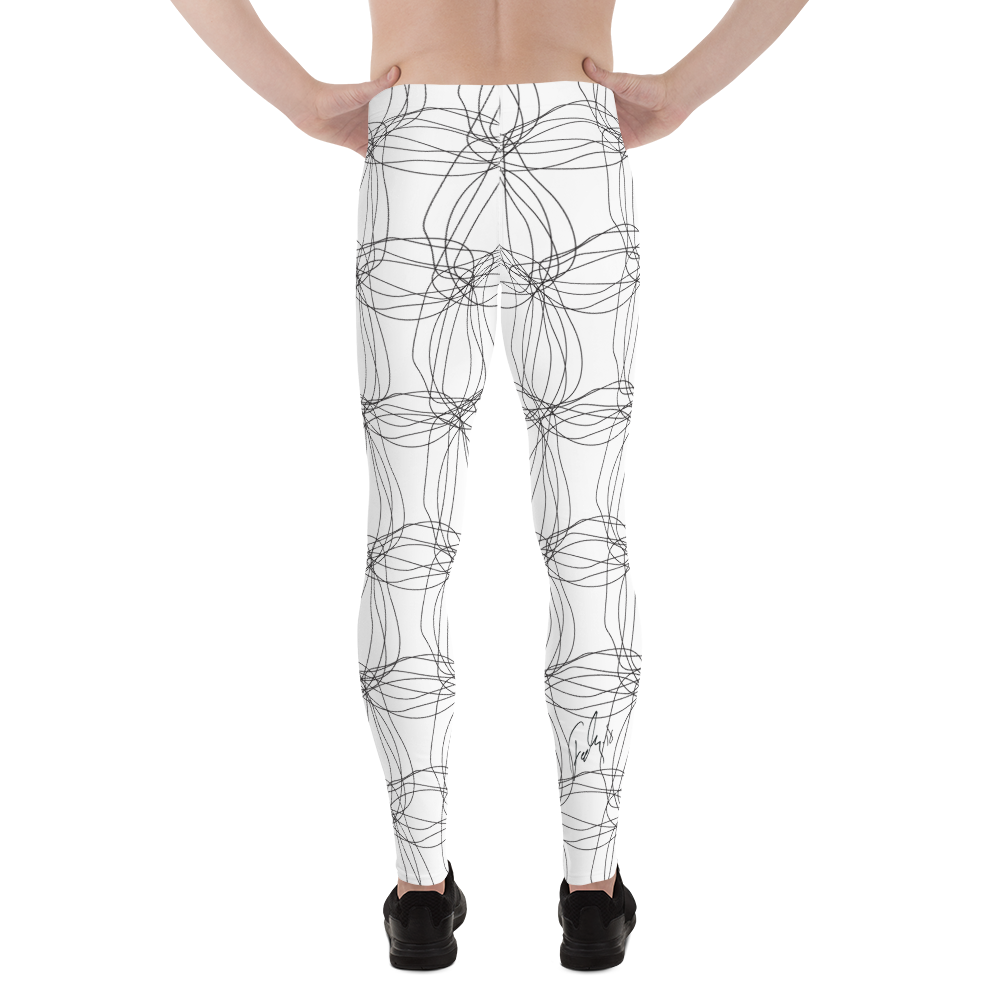 Ornament Graphic Flowers | Men's Leggings