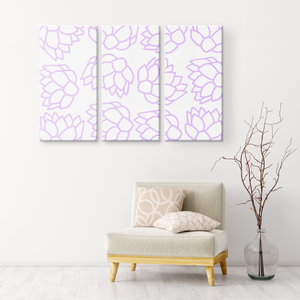 Pink Pastel Flowers | 3 Piece Canvas