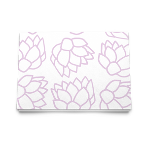 Pink Pastel Flowers | Folded Cards