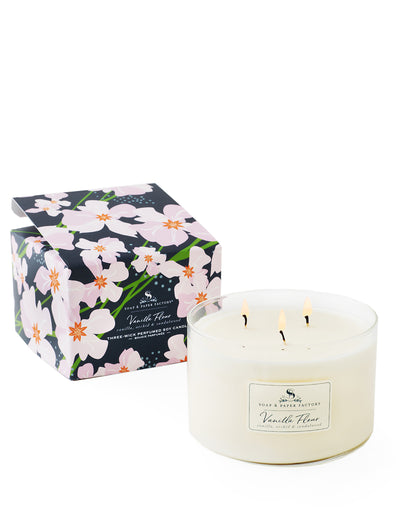 Vanilla Fleur Three-Wick Soy Candle