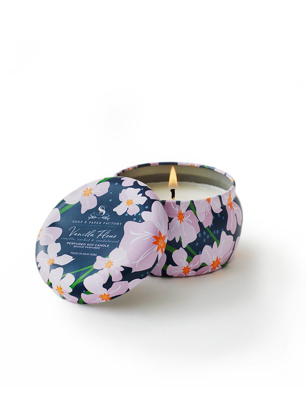 Vanilla Fleur Small Tin Soy Candle