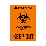 """Keep Out"" COVID-19 Vinyl Decal (Assorted Sizes)"