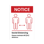 """Notice Social Distancing"" COVID-19 Vinyl Decal (Assorted Sizes)"