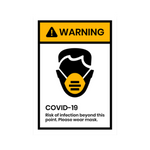 """Warning"" COVID-19 Vinyl Decal (Assorted Sizes)"