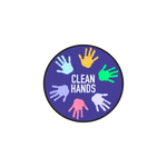"""Clean Hands"" COVID-19 Vinyl Decal (2"")"