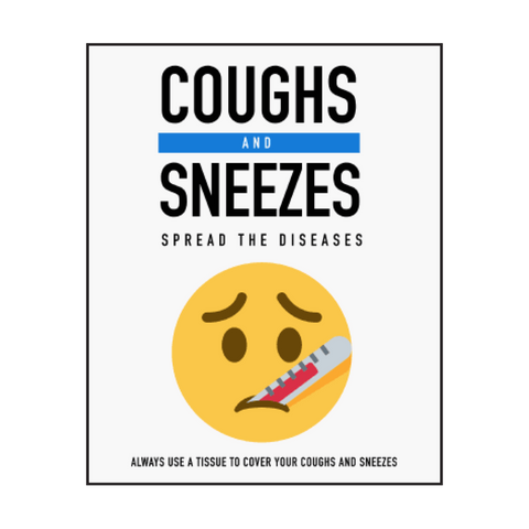 """Coughs and Sneezes"" COVID-19 Vinyl Decal"
